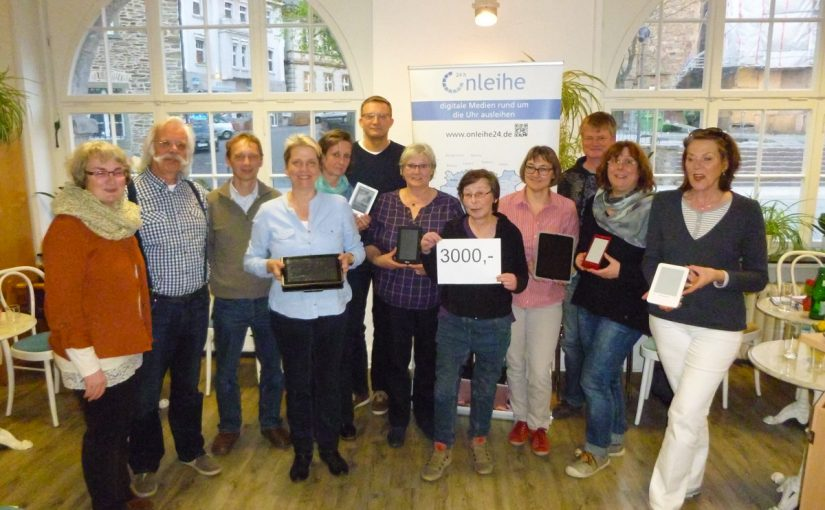 Scriptum spendet 3.000 Euro für Onleihe